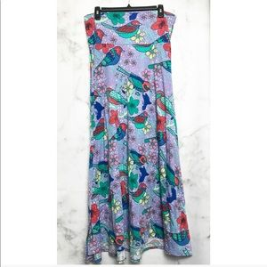 LulaRoe • vintage maxi bird skirt
